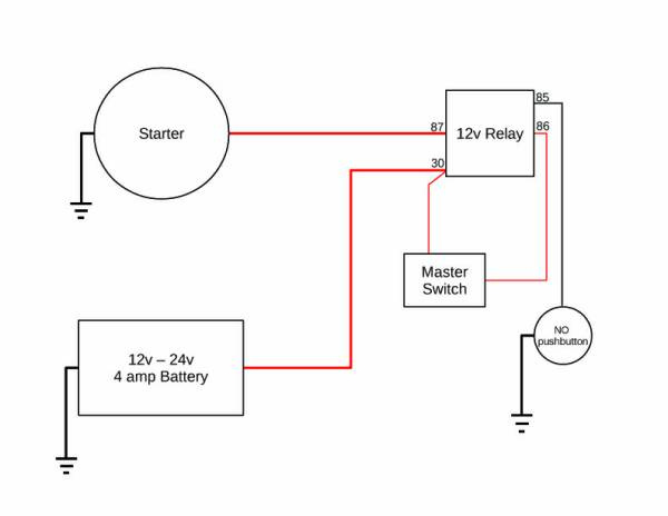 starter motor relay wiring diagram starter image starter motor relay wiring diagram starter auto wiring diagram on starter motor relay wiring diagram